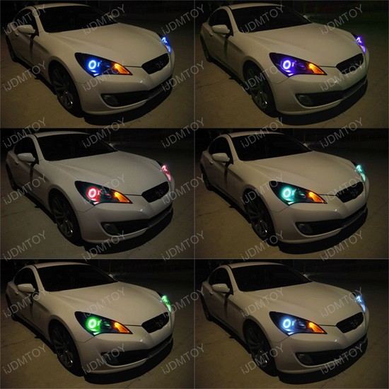 2013 2016 Scion Fr S Headlight Rgb 7 Color Led Angel Eye Kit