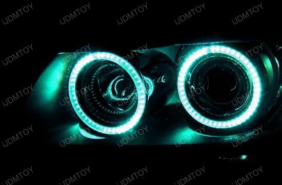 Multi-Color BMW E90 3 Series Angel Eyes LED Halo Rings