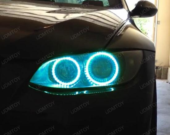 Multi-Color BMW E92 Angel Eyes LED Halo Rings