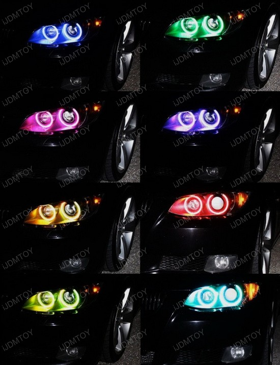 Multi-Color BMW E92 Angel Eyes LED Halo Rings