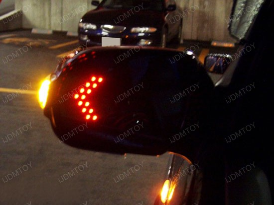 Universal Fit Side Mirror Led Turn Signal Lights Arrows