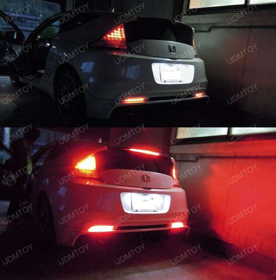 Honda CR-Z Red Lens LED Bumper Reflector Lights
