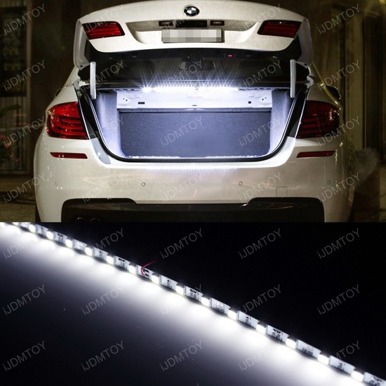 universal led strip light for car trunk cargo area lighting. Black Bedroom Furniture Sets. Home Design Ideas