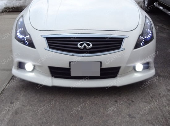 Nissan Infiniti LED Fog Lamps 14 nissan infiniti oem fit 18w led fog lights with angel eye halo rings