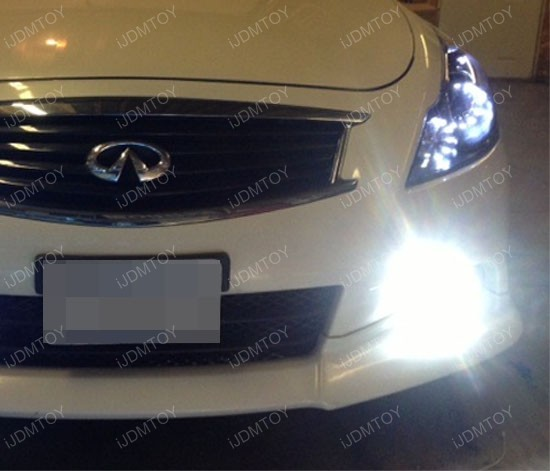 Nissan Infiniti Oem Fit 18w Led Fog Lights With Angel Eye