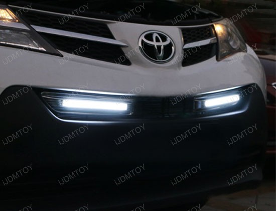 2013-up Toyota RAV4 Direct Fit LED Daytime Running Lights