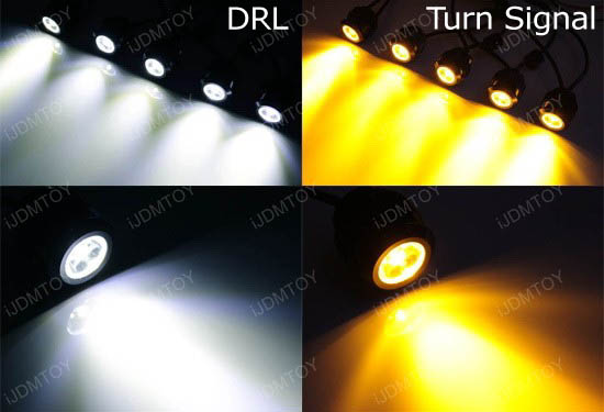 10W High Power LEDayFlex Style Flexible LED Daytime Running Lights