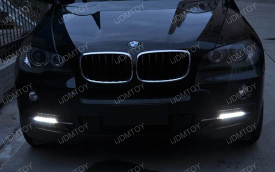 Bolt-On High Power LED Daytime Running Lights For 2007-2010 BMW X5