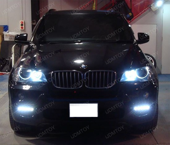 Bolt-On High Power LED Daytime Running Lights For 2011-up BMW X5