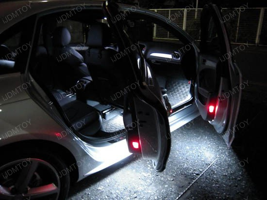 White Error Free Led Door Courtesy Lights Lamps For Audi