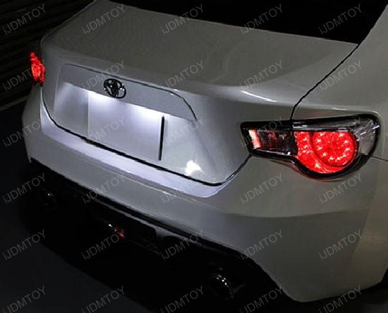 Scion FR-S Subaru BRZ LED License Plate Lamps