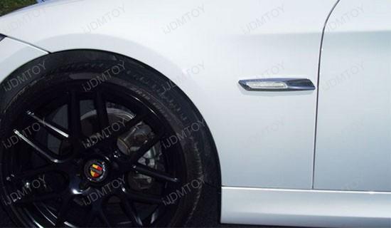 Bmw F10 Style Amber Led Chrome Finish Side Marker Lights