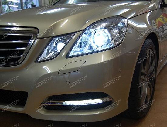 Mercedes W212 E-Class LED Parking Lights Upgrade & 2010-13 Mercedes E350 E550 6000K HID Match LED Parking Light Module azcodes.com