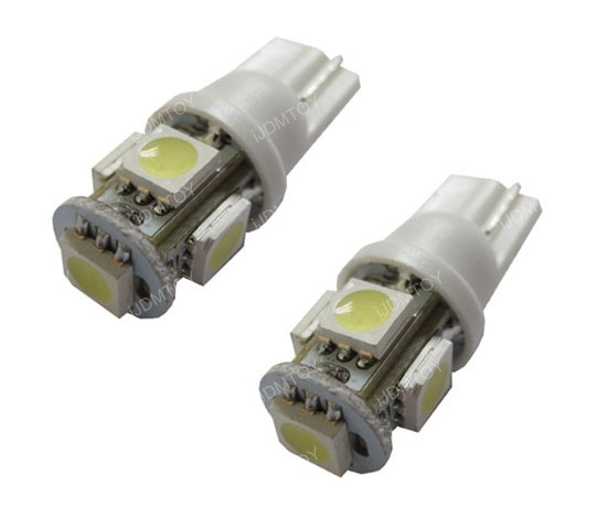 5-SMD T10 Wedge Light LED Bulbs