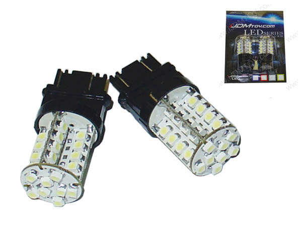 JDM Super Bright Xenon White 40-SMD T25 3156 (aka 3056) or 3157 (aka 3057) LED Indicator Corner/Blinker Brake Tail light bulbs