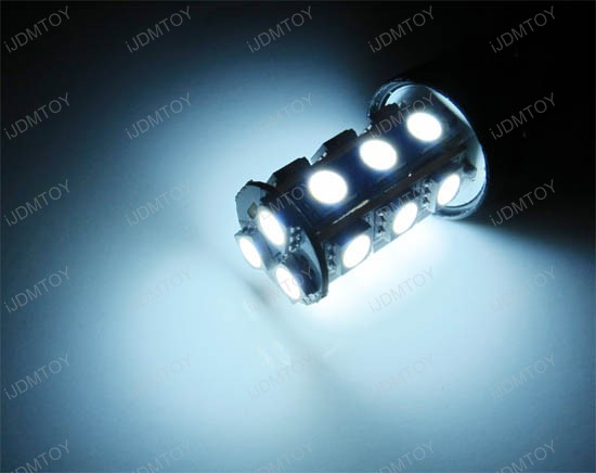 18-SMD T20 5050 7507 LED Turn signal Backup Light Bulbs