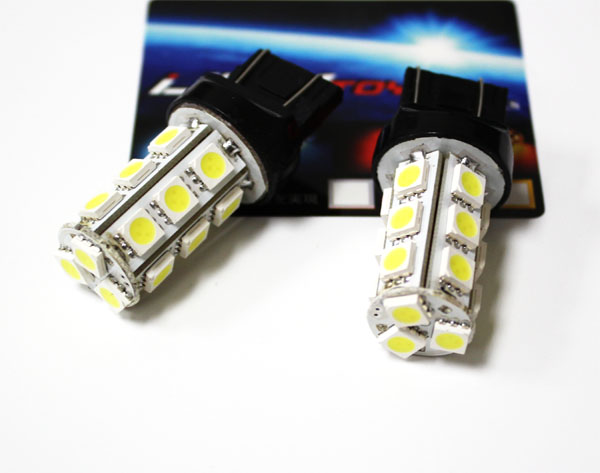 JDM Super Bright 18-SMD 5050 360 degrees shine T20 7440 (aka 992A) or 7443 LED Indicator, turn signal, backup light bulbs