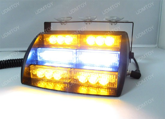 Amber White 18-LED Strobe Lighting Kit