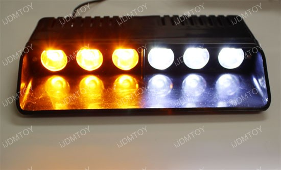 High Power CREE 6-Light Dashboard LED Strobe Light