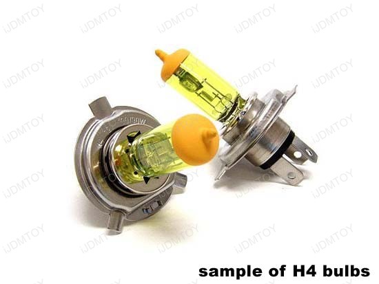 JDM Golden Yellow Halogen Xenon Bulbs. Size: H1 H3 H4 H7 H8 H10 H11 H13 9004 9005 9006 9007 880