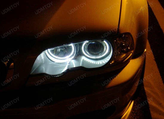 BMW E38 E39 E46 3 5 7 Series Xenon Headlight SMD LED Angel Eyes Halo
