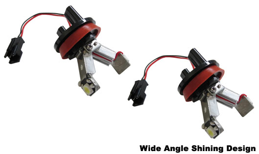 New!!! Xenon White 60 Degrees Wide Angle Shine H8 High Power LED Angel Eye Ring Markers for BMW 1, 3, Z4, X5, X6 Series (Error Free)