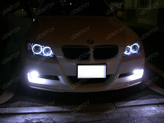 fit e90 e91 3 series bmw high power led angel eye eyes ring marker bulbs lights. Black Bedroom Furniture Sets. Home Design Ideas