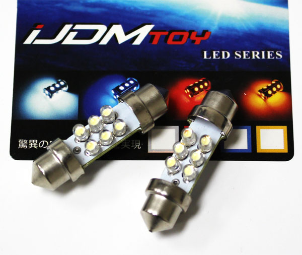 6 LED 36mm 6411 6418 DE3425 LED Festoon Bulbs