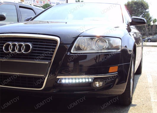 JDM Audi A5 A6 Style High Power 9-LED Xenon White Daytime Running Light (DRL) Lamp kit