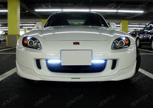 JDM Universal Fit Xenon White or Ultra Blue 8-LED Daytime Running Light Kit (aka LED Day Driving Cruising DRL Lamps)