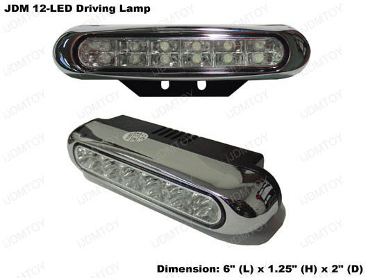 JDM Universal Fit Xenon White or Ultra Blue Double-Layer 12-LED Daytime Running Light Kit (aka LED Day Driving Cruising DRL Lamps)