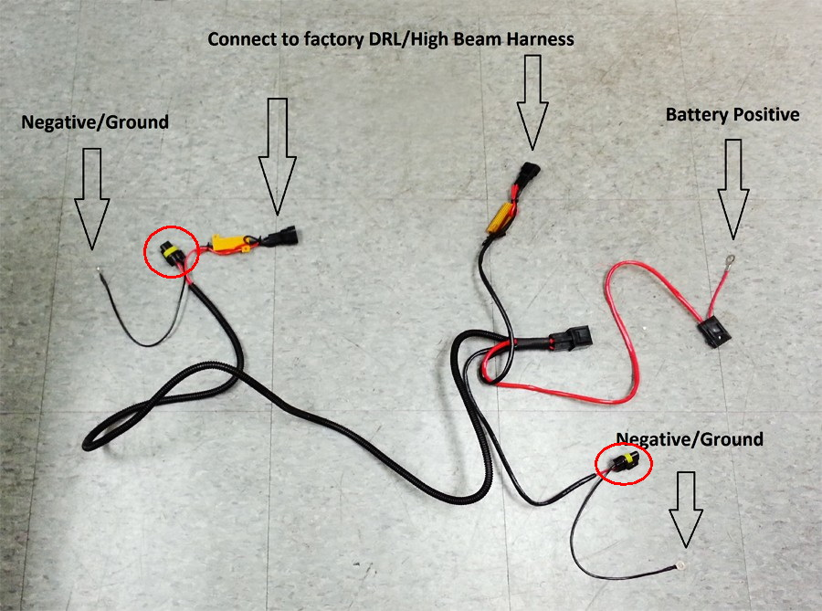 wiring diagram for led daytime running lights the wiring diagram installation 2007 2008 acura tl 9005 led daytime running lights wiring diagram