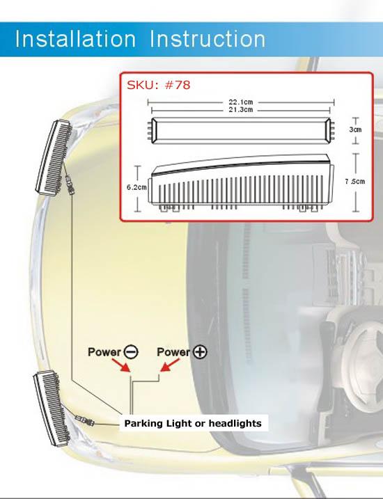 Hella LEDayLine Style LED Daytime Running Lights DRL
