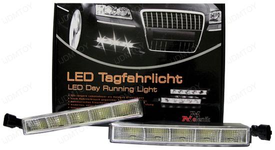 Xenon White Hella Style 5-LED High Power LEDayLine LED Daytime Running Light (DRL) Lamps