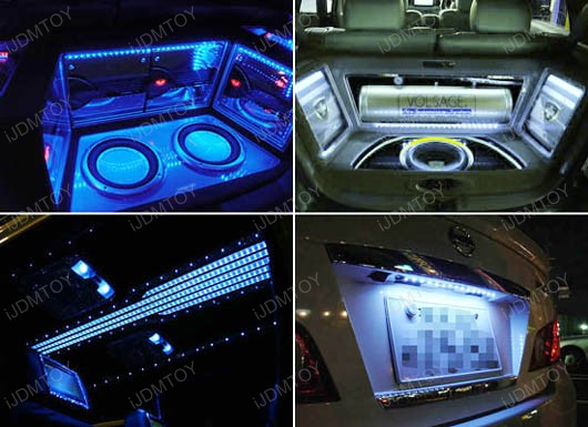 led light strips led strip lights for car interior accent lighting. Black Bedroom Furniture Sets. Home Design Ideas