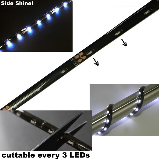 Side Glow 21-SMD Flexible LED Strip Lights For Headlights, Fog Lights
