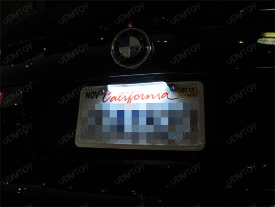 LED license plate lights BMW