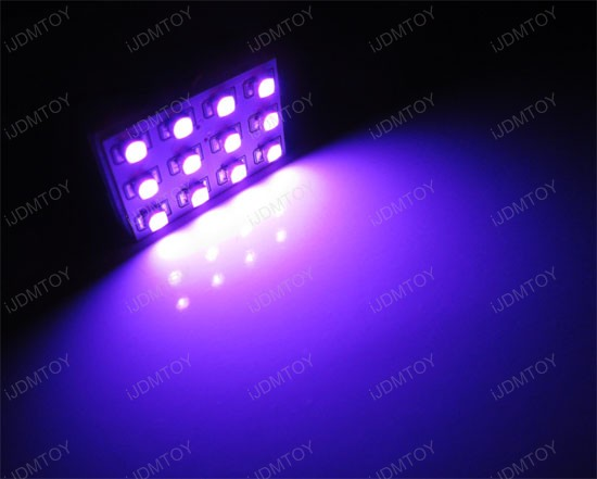 Pinkish Purple LED Interior Lights Dome Map
