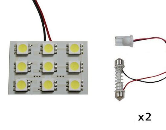 9-SMD 5050 LED PCB Panel Lights