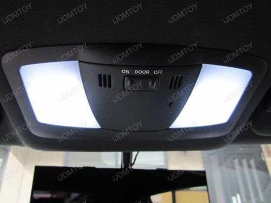 JDM Super Bright Xenon White, Ultra Blue or Brilliant Red Luxer1 12-SMD LED Interior Map/Dome Panel Lights, Fits 168 2825 DE3175 6411 578 211-2 etc (universal fit)