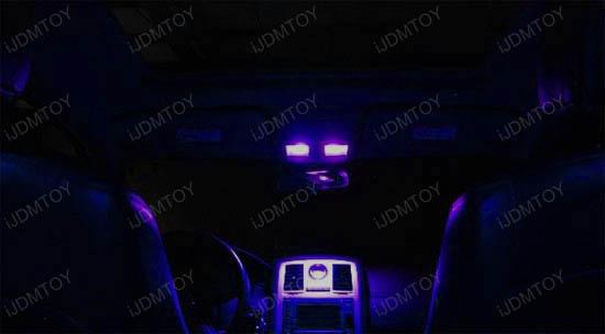 universal fit purple led map dome lights interior panels. Black Bedroom Furniture Sets. Home Design Ideas