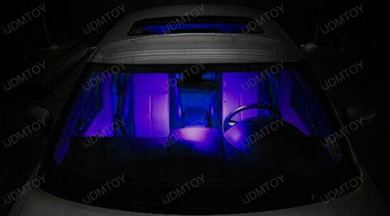Universal Fit Purple LED Map Dome Lights Interior Panels