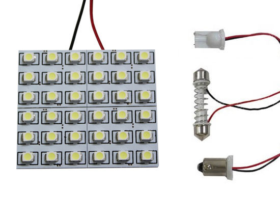 36-SMD 168 3175 6411 LED Interior Lights Dome Lights Panel