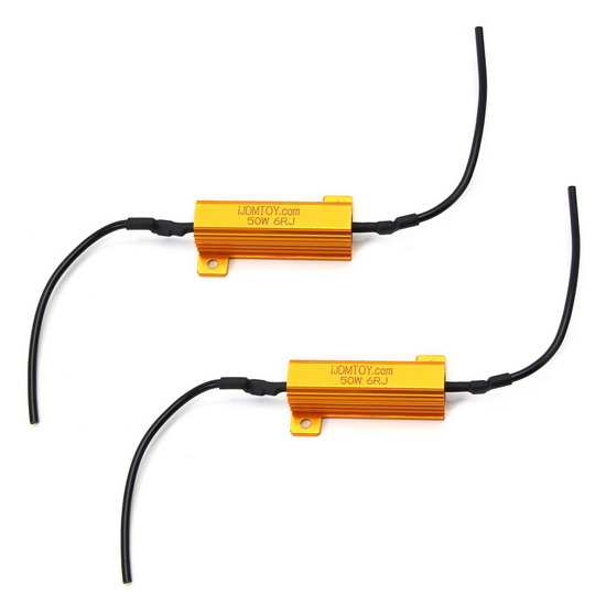 Load Resistors LED Turn Signal or License Plate Lights