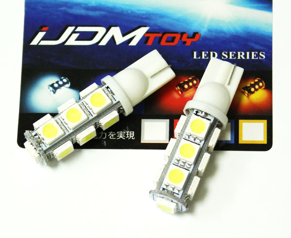13-SMD 5050 2825 T10 Wedge Light Bulbs
