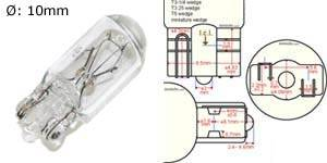 T10/T15 wedge base bulb, will replace the following bulb size: 158 161 168 194 2821 2823 2825 2827 W5W, etc.