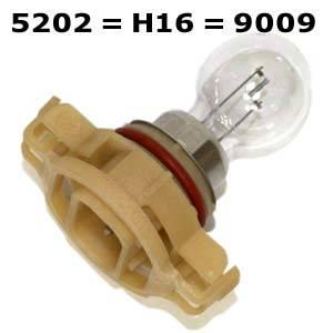 5202 H16 9009 bulbs