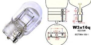 7440 T20 wedge light bulbs