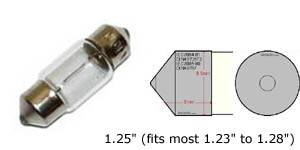 "D31mm 1.25"" 31mm festoon bulb, will replace the following bulb size: DE3175 DE3022 3175 3022, etc."
