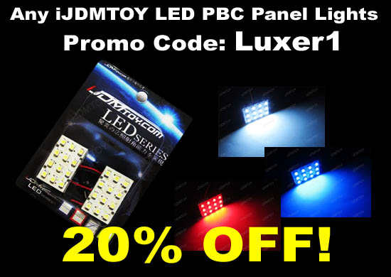 iJDMTOY Universal Fit 12-SMD Luxer1 LED Interior Panel Lights, 20% off Code: Luxer1